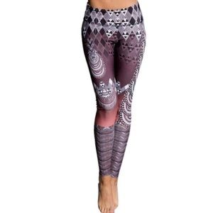 Onzie Leggings Printed Graphic Tights Gym Yoga